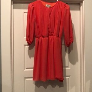 Coral colored dress